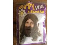 Hippy wig and beard. Still in packaging