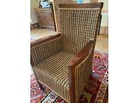 6 large wicker chairs