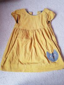 Mustard corduroy Next dress aged 3/4yrs