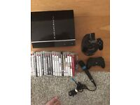 PlayStation 3 80gb 20 games 2 wireless controllers and micophone