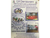 NURSERY STAFF REQUIRED - BRAND NEW EXCITING NURSERY