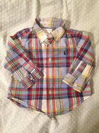 Genuine Ralph Lauren shirt, size 12 months
