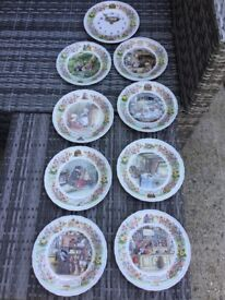 Foxwoods Tales Wedgewood Plates and Clock