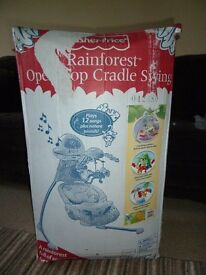 baby swing fisher price rain forest