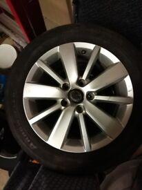 "2x Croft / Pescaro 16"" Alloy Wheels VW MK6 Golf"