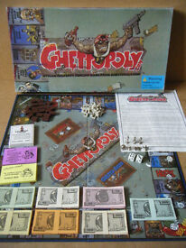 """Collectable rare """"GHETTOPOLY"""" board game. Produced in 2003. Complete."""