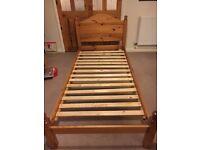 Pine, single bed frame