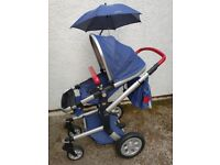Joolz Day Tailor Jeans and Red Pram and Pushchair with accessories - very good condition