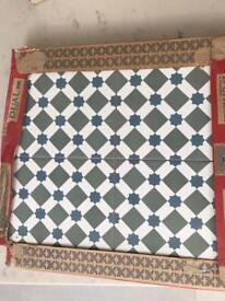 H Line Green tiles