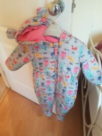 X2 winter Next outdoor onsies 9-12 months