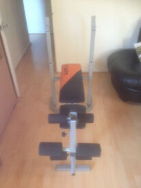 V-Fit Folding Weight Bench with Leg Extension (Used Condition)