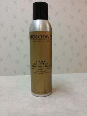 Nick Chavez Hairspray Gold OR Silver Glitter Hairspray - Glamour Hair - Gold Hairspray