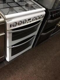 White stoves 55cm gas cooker grill & double ovens good condition with guarantee bargain