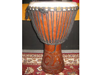 AUTHENTIC DJEMBE FROM MALI (BASS), WITH ITS OWN CARRY BAG