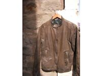 House Clearance: Cool Brown Leather Men's Jacket (Motor Free Style)