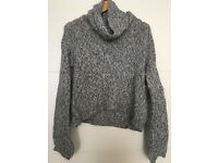 Knit Wool Grey Turtle Neck Size Medium