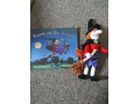 Room on the broom plush teddy and book