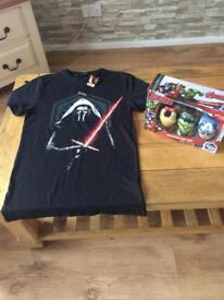 T-shirt Binet and toiletries set brand new in box