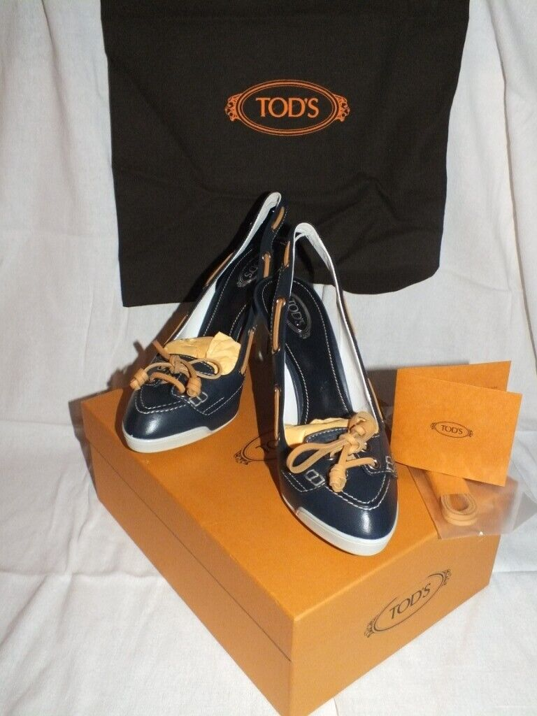 72bed62a31d TODS Ladies designer luxury heeled shoes . Size 37 1 2 New in Box ...