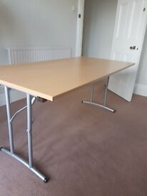 Beech effect office folding table 1600mm
