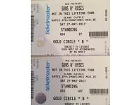 2 x Guns N' Roses Gold Circle Tickets for Sale 140.00 per ticket