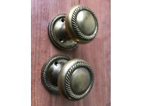 Old Victorian style Brass door knob with spindle