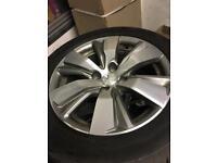 Genuine Peugeot 2008 diamond cut alloys and tyres