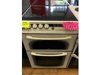 CREDA 60CM CEROMIC TOP ELECTRIC COOKER IN WHTE