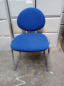 BLUE ROUND BACK MEETING CHAIRS