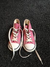 Pink Girl converse size 9 £5