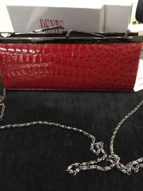 New Dents Red Clutch Bag
