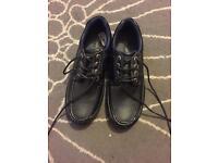 US Brass school shoes men size 6 black shoes