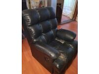 FREE Super comfy black leather armchair