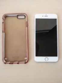 iphone 6 plus 16Gb - silver with very good condition and a protect case