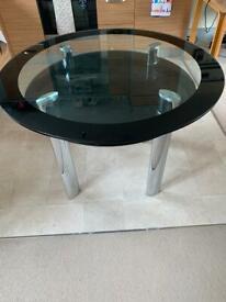Circular Glass Table 1.1m diameter