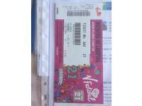 1 X V FESTIVAL WEEKEND TICKET NOT CAMPING WESTON PARK STAFFORD