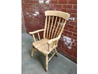 £35 solid beech large chair farmhouse shabby chic project