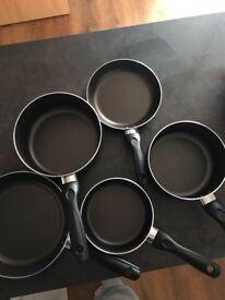 Five Piece Pots and Pans Aluminum Set
