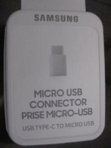 Samsung Micro USB to USB C Adapter. Thunderbolt. Use with Samsung Galaxy Note 8 / S8 Plus / S7 / Macbook / ASUS Zenfone