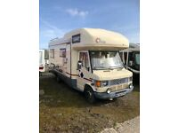 Mercedes 410D FFB Motorhome 1995, 6 Berth with fixed double bed