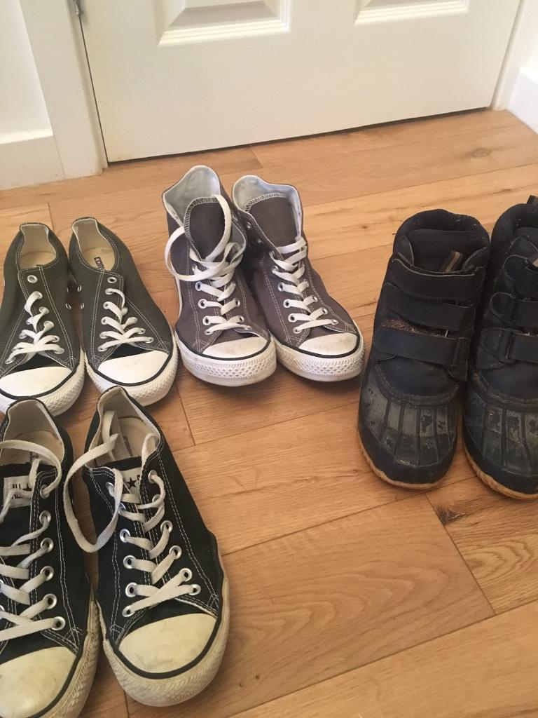 Converse and yard boots