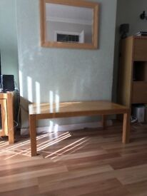 Solid wood Coffee Table and TV cabinet - from Creations (cost £500)