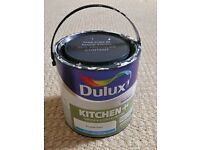 Dulux Kitchen Grease & Stain Protection Frosted Steel Blue-Grey Matt Paint Approx 2/3 2.5L Tin Left