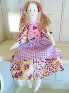 Patchwork Cloth Rag Doll Craft Kit Purple Theme Vintage Toy Sewing Kit Gorgeous