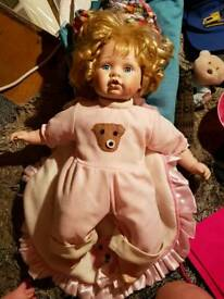 Large baby girl porcelain doll