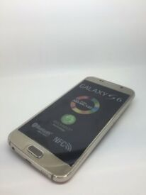 SAMSUNG GALAXY S 6 SIM FREE GRADE A IN GOLD COMES WITH CHARGER AND THREE MONTHS WARRANTY