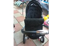 Silver cross pram in black (no carry cot)
