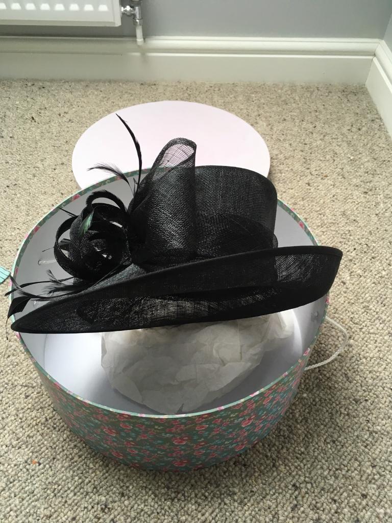 John Lewis black ladies hat