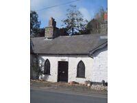 Cottage, 2 bed, rural, garden, 3 miles Aberystwyth, bus route