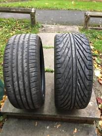 Two tyres for sale